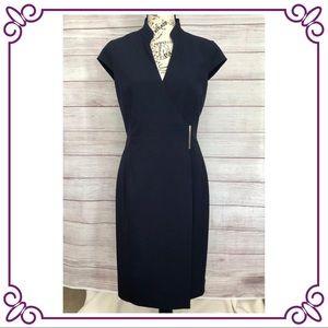 Calvin Klein Wrap Front Sheath Dress #0…